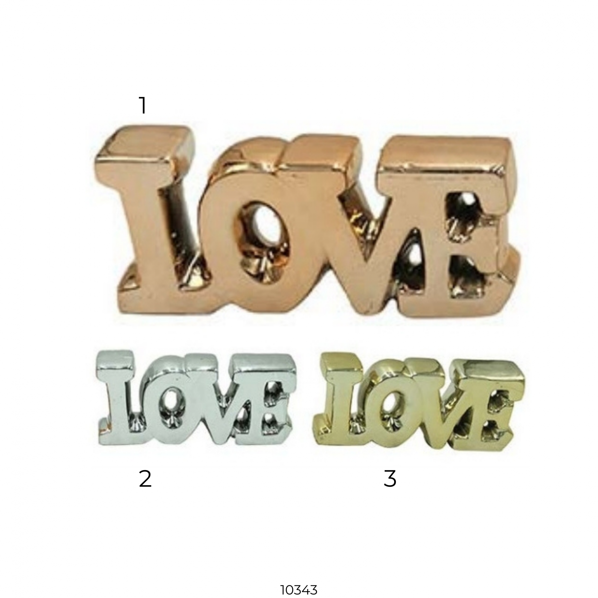 10343 ENFEITE DECOR CERAMICA LOVE 17x7,7x3CM - ...