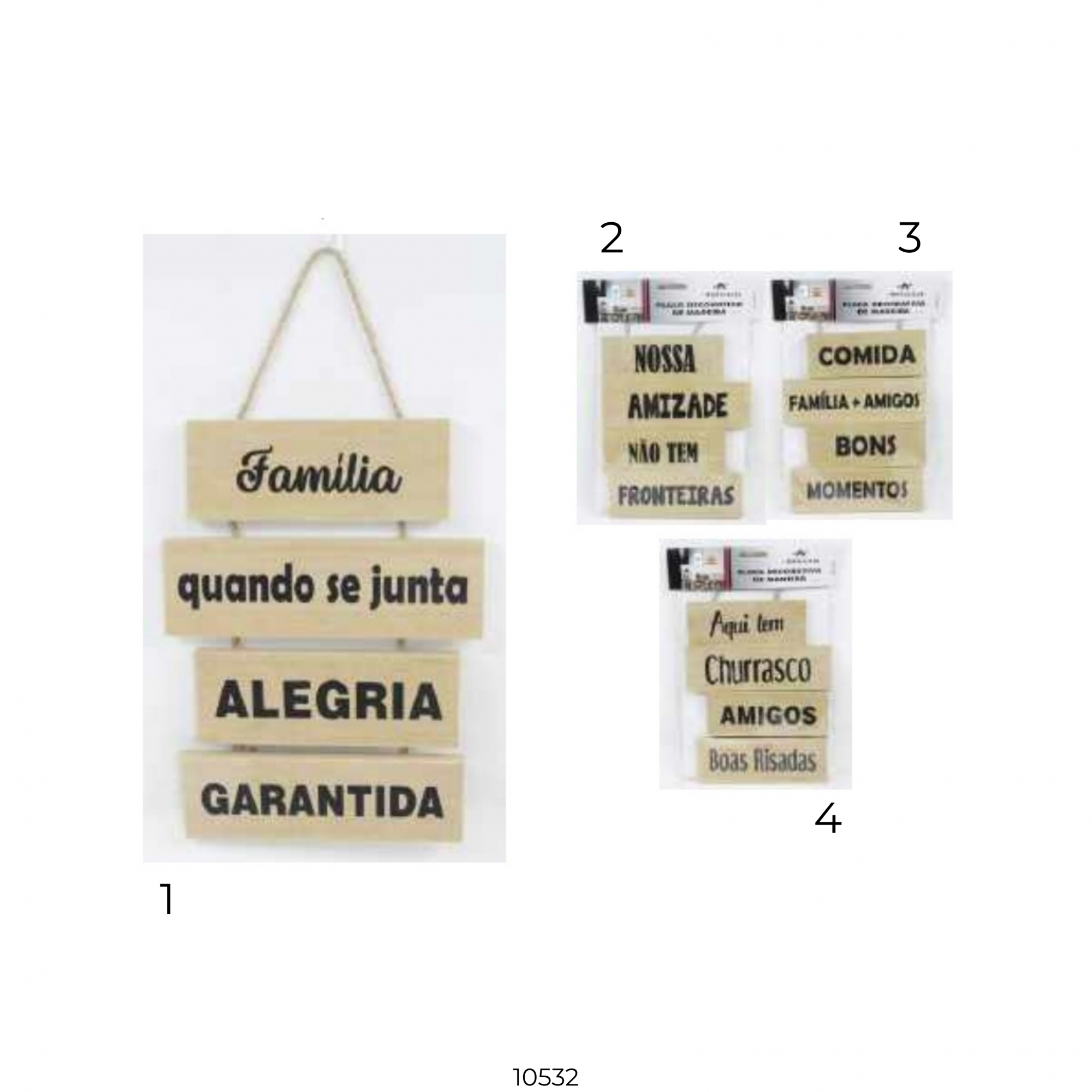 10532 PLACA DECOR MDF 36x18cm - Modelo 2