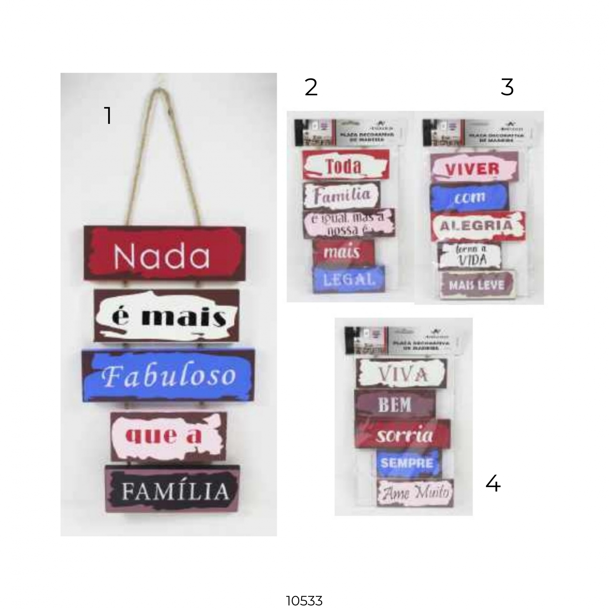 10533 PLACA DECOR MDF 43x18cm - Modelo 4