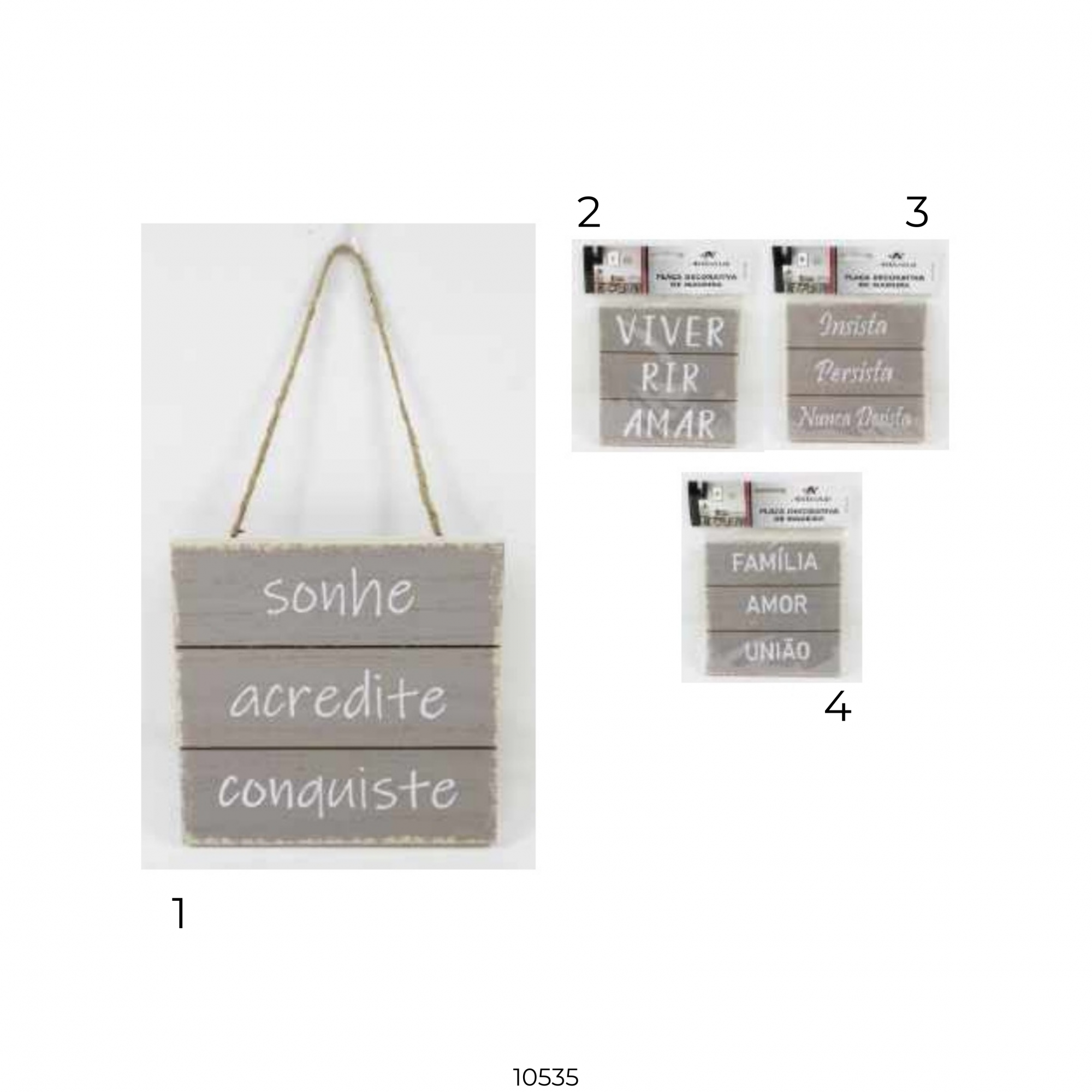 10535 PLACA DECOR MDF 30x15cm - Modelo 4