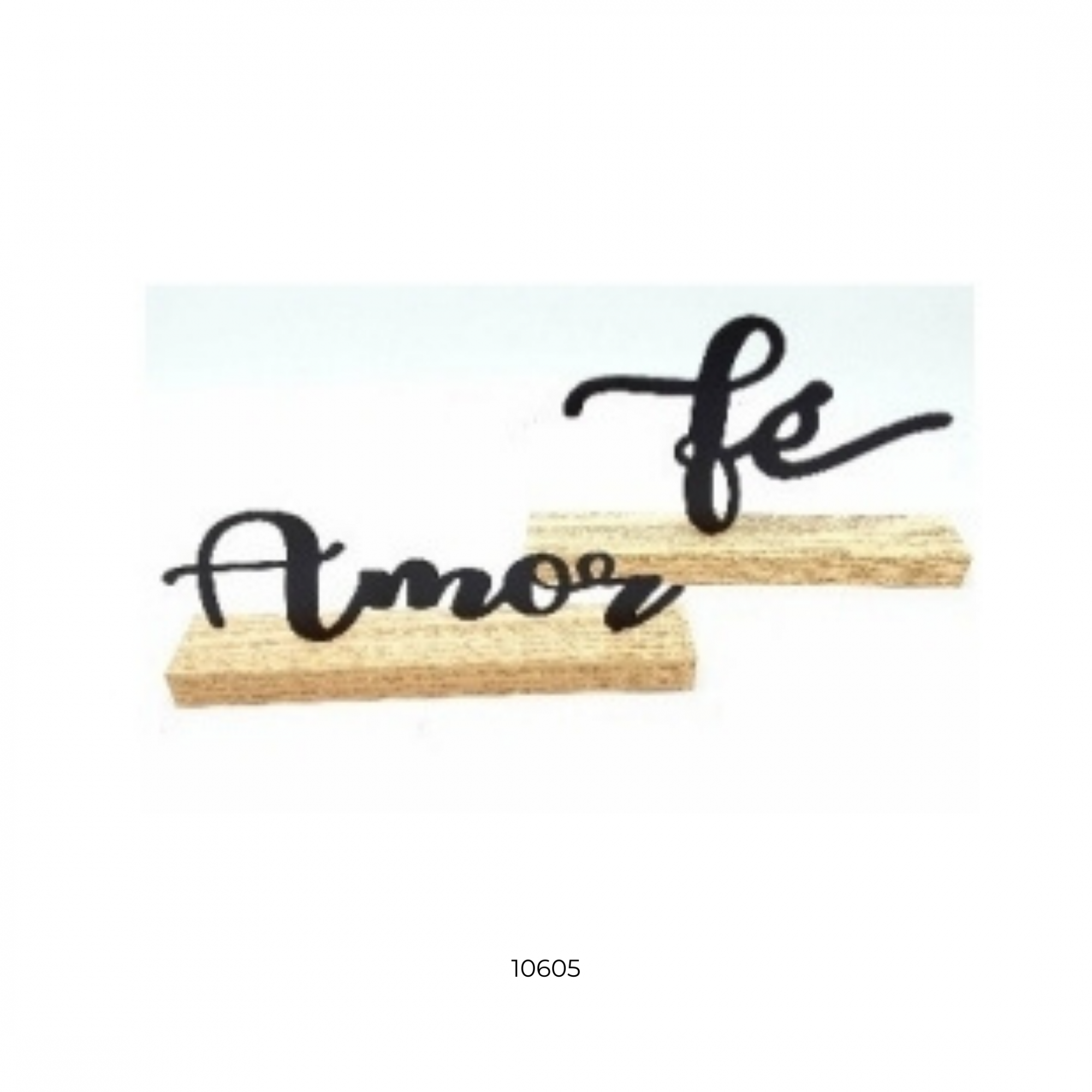 10605 ENF DECOR MADEIRA E METAL - Amor